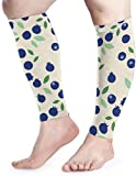 djydky Blueberry Pattern Calf Compression Sleeve Men Womens Running Leg Sleeve for Shin Splint Muscle Pain Relief (1 Pair)