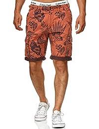 Indicode Herren Albert Hawaii Chino Cargo Shorts Bermuda Kurze Hose aus  Stretch-Material Regular Fit 9945086480