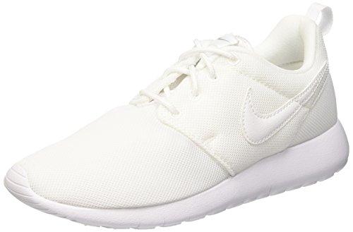 Nike Mädchen Roshe One (GS) Rennschuhe, Bianco (White/White-Wolf Grey), EU 37.5 (US 5Y) (Schuhe Run Nike Roshe Kinder)