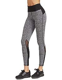 MEIbax Leggings Deportes Pantalones para mujeres de Moda Empalme Skinny  Casual Pantalones Fitness Yoga de Cintura de15a31f3c22c