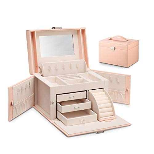 Vlando Gioielli Portagioie Scatole Rettangolare, Fabulous regalo delle donne (rosa)