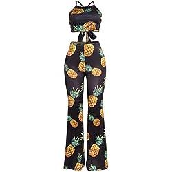 Señoras Discoteca Ropa Big Piña Discoteca Moda Conjunto Pantalones De La Pierna De Moda Club De Dos Piezas Conjunto,Black,S