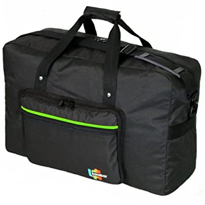 Karabar Maximum Allowance Cabin Bag 55 x 40 x 20 cm, 44 Litres, 0.7 kg, 3 Years Warranty (Black/Lime)