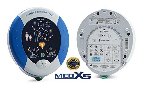 MedX5 PAD350P 8 Jahre Garantie, Laien Defibrillator AED, halbautomatischer Defibrillator mit HLW Unterstützung