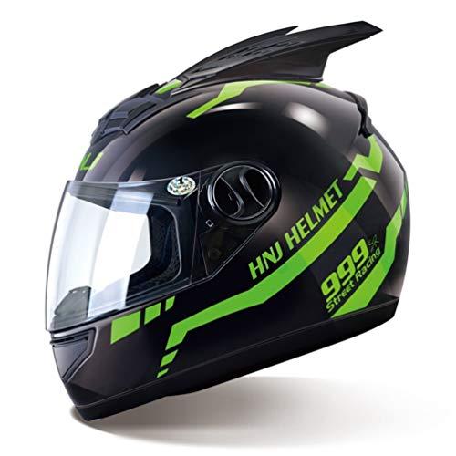 Uomo Donna Moto Casco Moto Protezione Removibile Corno Abbagliante Coverd Caschi Protezione Motocross 3 tipi di lent