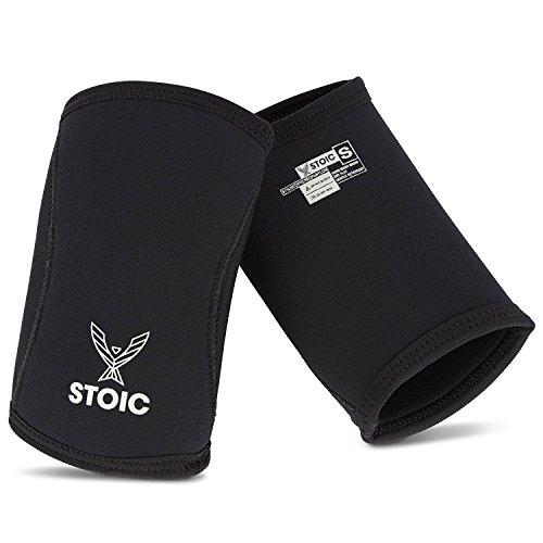 SIEGBURG Ellenbogen Ärmel 7mm + 5mm für Powerlifting, Bodybuilding, Gewichtheben,-Professionelle Qualität & Ultra robuste Performance (Paar) - In Voller Größe Bench