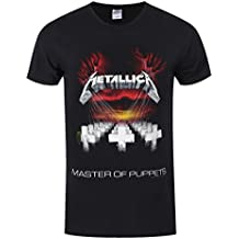 Metallica Master of Puppets Tour 1986 Camiseta Negro