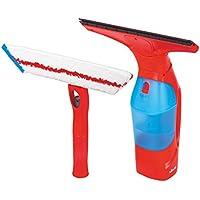 Vileda Windomatic Set - Set de aspiradora limpiacristales con cuello flexible y mopa de microfibras y spray