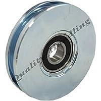 rueda de la rueda 100mm de la rueda de la acera, ranura plana 4 pulgadas
