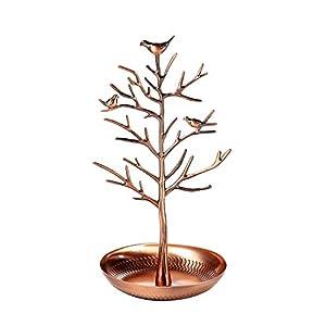 """Schmuckständer """"Baum"""" von Juvale – Mit Vögeln im Geäst im Vintage-Stil – Für Halsketten, Armbänder, Ohrringe – Zuhause…"""