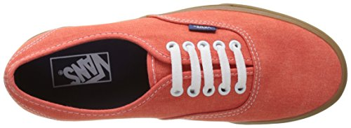 Vans UA Authentic, Scarpe da Ginnastica Basse Uomo Arancione (Washed Canvas Cherry Tomato/gum)