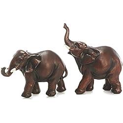Sunny Toys 13000 - Juego de figuras decorativas (12 cm), diseño de elefantes, 2 modelos surtidos