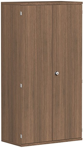 Garderobenschrank mit ausziehbarem Garderobenhalter, abschließbar, 800x425x1536, Nussbaum/Nussbaum