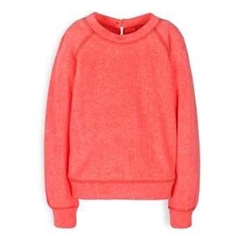 TroiZenfantS Soizic - Sweat-shirt - Uni - Fille - Orange (Sweat Orange Fluo) - FR: 6 ans (Taille fabricant: 6 ans)
