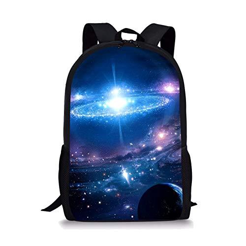 POLERO Stadtstreicherin Kordelzug Wanderrucksack Nizza Starry Universe drucken Sporttasche für Männer Frauen - Konturierte Kordelzug