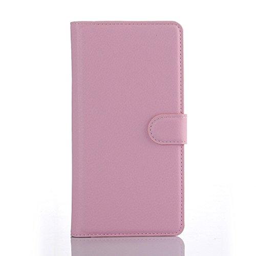 Easbuy Pu Leder Kunstleder Flip Cover Tasche Handyhülle Case Mit Karte Slot Design Hülle Etui für wiko Barry Smartphone Handytasche