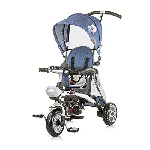 Chipolino Tricycle Maverick Dreirad 5 in 1, Laufrad, Sitz drehbar, EVA-Reifen jeans pink -