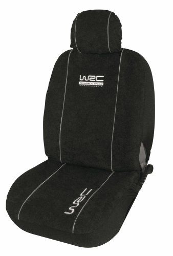 WRC 007338 - FUNDAS UNIVERSALES PARA ASIENTOS DELANTEROS Y TRASEROS DE COCHE (4 PIEZAS  COMPATIBLES CON AIRBAGS)  COLOR NEGRO