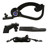 IPOTCH 6KG Load Camera Shoulder Mount Support Pad Bracket Camcorder Video Stabilizer Accessory Kit, for Rail Rig System Photography Devices
