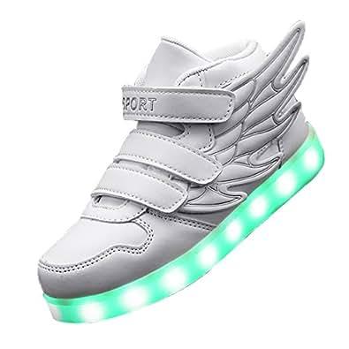 Gaorui Basket Led Enfant Garçons Filles Chaussures de Sport Lumineuses Lumière LED Fermeture Velcro