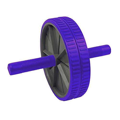 Spokey Twin/Twin B - Bauchmuskel Trainer (AB Roller Bauchtrainer Bauchroller Fitness + up®-Sticker), Farben/Colour:Lila