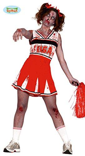 Kostüm Cheerleader Untote - Zombie Cheerleaderin USA Kostüm für Damen Gr. M/L, Größe:L