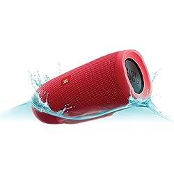 JBL CHARGE 3 - Altavoz Bluetooth inalámbrico portátil estéreo con batería recargable, color rojo