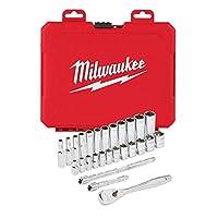 """Milwaukee T4932464943 Ağır Hizmet Tipi Cırcır Lokma Takımı ¼"""" 28 Parça"""
