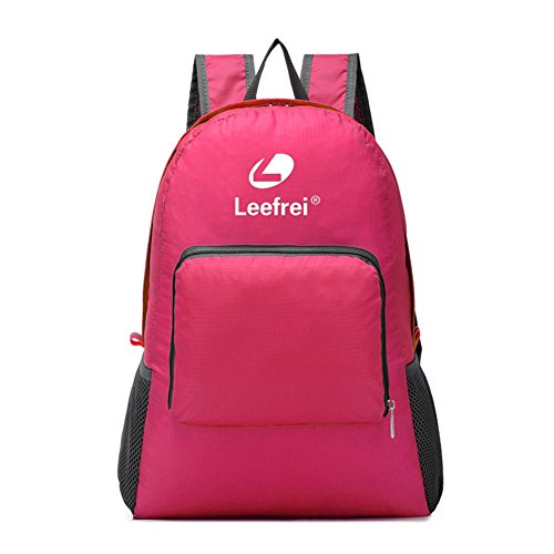 Preisvergleich Produktbild Leefrei Ultra-light nylon wasserdichter faltbarer Rucksack leichter Trekkingrucksack Wanderrucksack Daypack Backpacks Freizeitrucksack … (Rot)