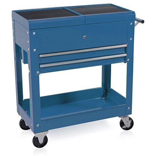 Werkzeugwagen mit Ablagekasten blau