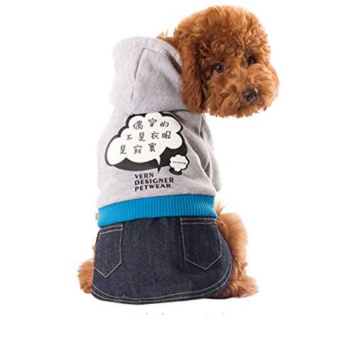 LOVEPET Herbst Und Winter Haustierbekleidung Katze, Hund, Kleidung Kleiner Pullover Mit Rock Teddybär-Kostüm - Teddybär Kostüm Für Den Kleinen Hunde