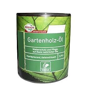 Genius Pro 750 ml Gartenholz-Öl, imprägnierend, tiefenwirksam, Farbton Douglasie