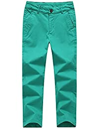 de5fa3969 KID1234 Boys Trousers Chino Cotton Trousers Lightweight Elasticated Waist  Pants Smart Formal Trousers for Boys 4