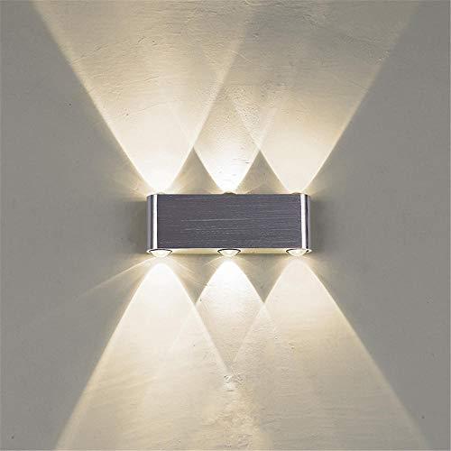 Wandleuchte Aluminium Led Wandleuchte Wasserdicht Kreativer Scheinwerfer Nachtlicht Dekorative Wandbeleuchtung FüR Schlafzimmer KüChe Flur Treppe Balkon/Aluminium_Warmes Licht