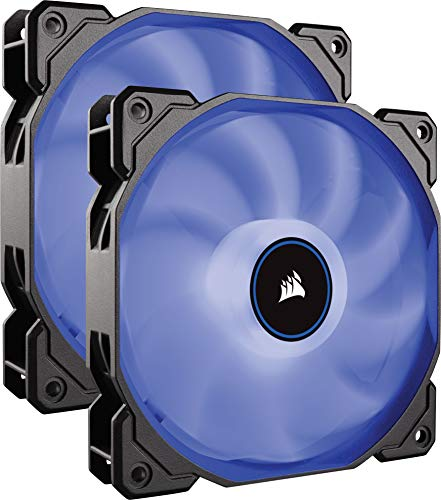 Corsair AF140 Air Series LED Geräuscharmer Lüfter (140mm, Doppelpack) blau -