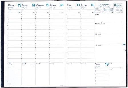 Ricambio Agenda Settimanale Quo Vadis Prenote 2019 cm. 21x29,7
