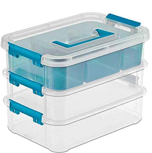 Sterilite 14138606 Layer Stack & Carry Box, 25,4-5/8 Zoll 4 - Pack -