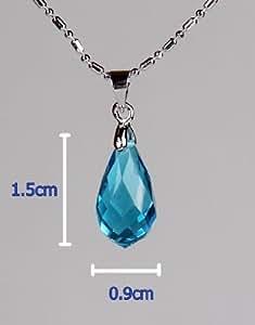 Sword Art Online SAO Kirito & Asuna's Yui Cosplay Crystal Necklace Chain Pendant