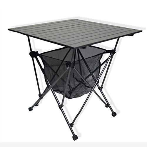 LINA Table en Aluminium Pliante Portable Table de Pique-Nique en Plein air Auto-Conduite Camping Barbecue Camping Table de Plage, 69x69x70cm