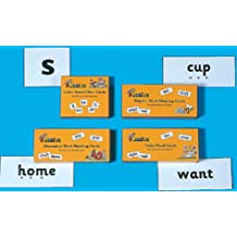 Jolly Phonics Cards (set of 4 boxes): in Precursive Letters