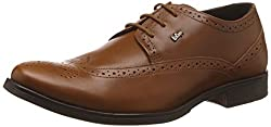 Lee Cooper Mens Tan Leather Formal Shoes - 8 UK/India (42 EU)