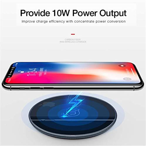 YOUXIU Kabelloses Ladegerät, 10W Schnellladung Glas rutschfeste Wärmeableitung Intelligente Erkennung Für iPhone x / 8/8 Plus Samsung Galaxy s9 / s8 / s8 Plus / s7 / s6 Edge,Schwarz