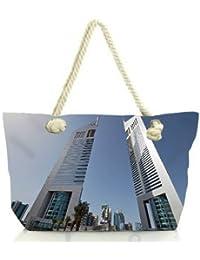 Snoogg Anlge Of The Buidling Women Anchor Messenger Handbag Shoulder Bag Lady Tote Beach Bags Blue