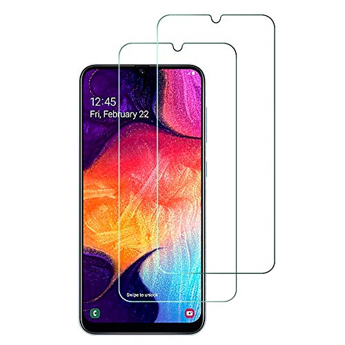 Widamin 2Pack, Compatibile con Galaxy A50 Vetro temperato, Pellicola in Vetro, [durezza 9H], [Alta Definizione], [No-Bubble] Screen Protector per Samsung Galaxy A50
