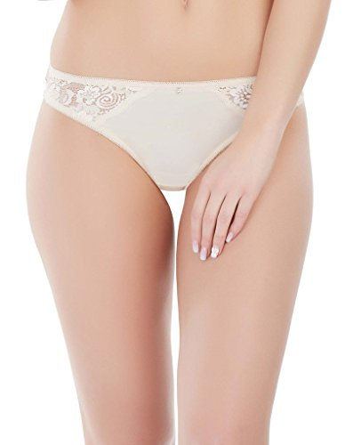 Marc and Andre S6-1791 Women's Delice Ivory Lace Panty Thong 40 (Lace Ivory Panty)