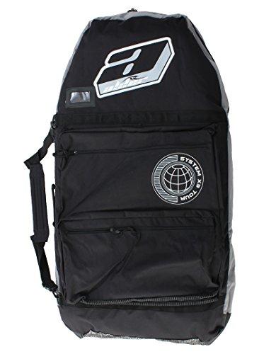Bodyboard Tasche Alder System X3Gepolsterte 111,8cm–Schwarz/Grau