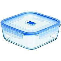 Luminarc Pure Box Active - Recipiente hermético de vidrio, cuadrado, tamaño 0.76 litros