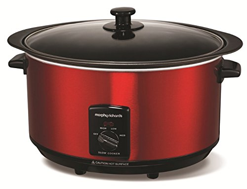 Morphy Richards Accents Sear and Stew Slow Cooker 6.5L 461000 Red Slowcooker