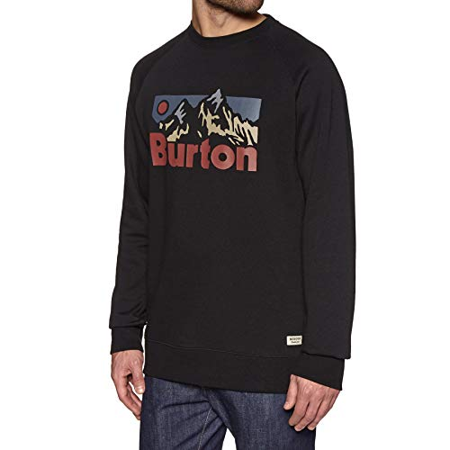 HerrenBurton Vista Crew Herren Sweatshirt (Medium, True Black) (Burton Herren Sweatshirt Snowboard)