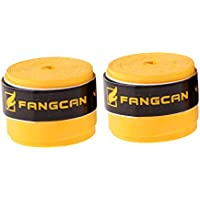 NON Sharplace 2 Piezas de Sobregrip Racket Overgrip Antideslizante Tenis Bádminton Raqueta Grip Hecho de PU Tamaño 110 x 2.8 x 0.08cm - Amarillo